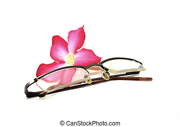 glasses with flower