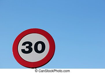 traffic signal maximum speed 30 km / h