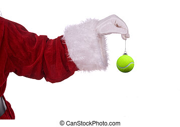 Santa Claus with tennis ornament - Santa Claus with tennis...