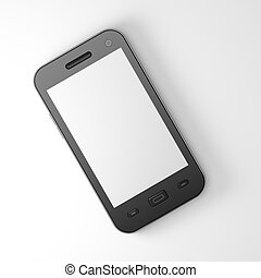 Beautiful highly-datailed black smartphone