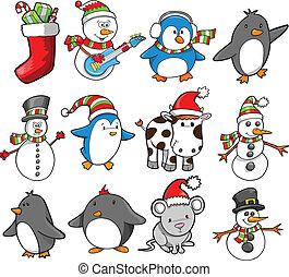 Christmas Holiday Vector Set