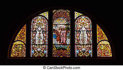 Stained Glass Church Window - Stained Glass Window at...