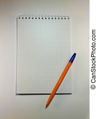 notebook on a white background with
