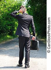 Business man walking