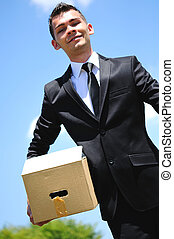 Business Man delivery box - Business man delivery box in...