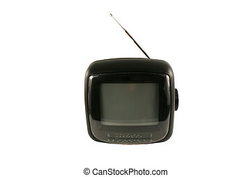 Isolated portable tv set with antenna