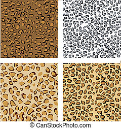 pattern of animal print - pattern set of animal print,...