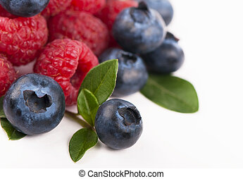 Blueberries, raspberries
