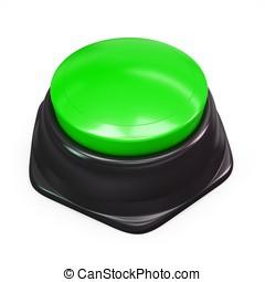 3d green blank button