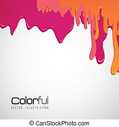 paint dripping - color illustrations paint dripping on black...