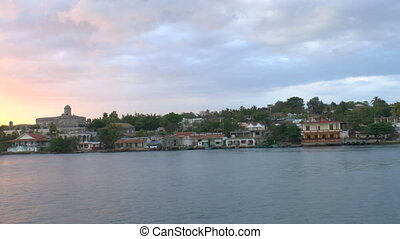 View of Cienfuegos city from boat b