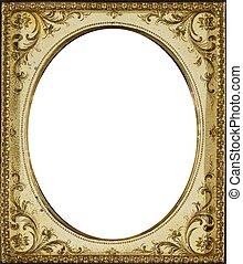 Vintage Ivory Frame - Ornate vintage ivory-colored frame