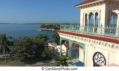 View on Cienfuegos bay from Palacio de Valle, Cuba