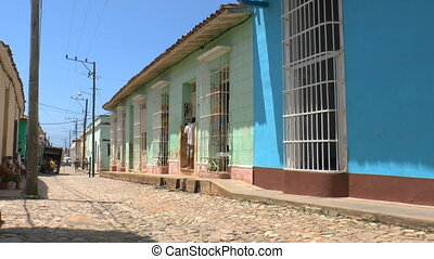 Typical colonial street of Trinidad, Cuba