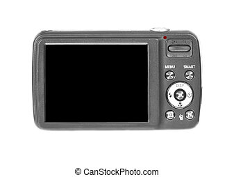 Digital camera - digital camera on isolated white background...
