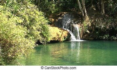 Natural pool in Topes de Collantes, Cuba