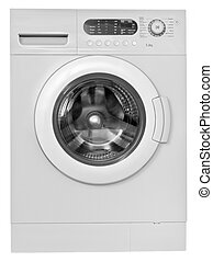 Washing machine isolated on white