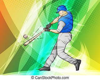 Baseball Swing - Baseball/Abstract Sports/Batter swinging...