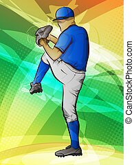 Baseball Pitcher in Motion - Abstract sports...