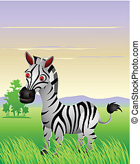 zebra cartoon - vector illustration of zebra cartoon with...