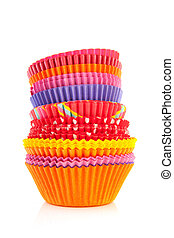 Colorful cupcake papers