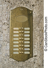 metallic doorbell plate - glossy doorbell plate made of...
