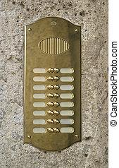 metallic doorbell plate - glossy doorbell plate made of...