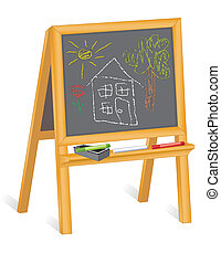 Childs Drawings, Blackboard Easel