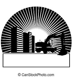 Excavator in the sun