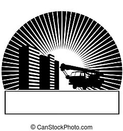 Mobile Crane in the sun