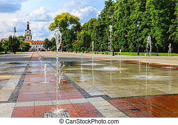 Park with fountains - Prince Jozef Poniatowski Old Park in...