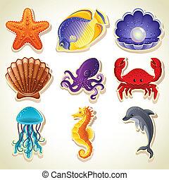 morze, Zwierzęta, ikony