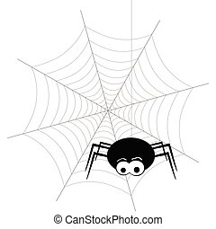 spider and web vector