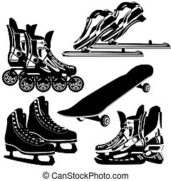 Sports equipment - The contours of items of sports equipment...