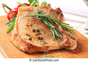 Rosemary pork chop - Pan fried pork chop with rosemary