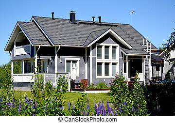 Scandinavian private house - Traditional private wood house...