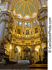 cathedral interior, Granada , Spain - interior of Cathedral...