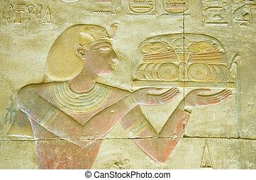 Pharaoh, seti, religiosas, oferecendo