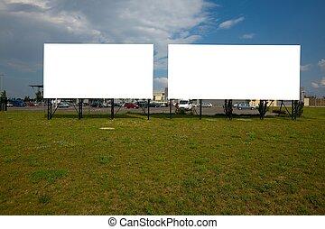 Billboard - Blank billboard signs at a parking lot