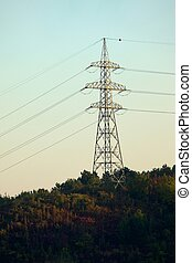 Electric Line - High voltage electric line pylon
