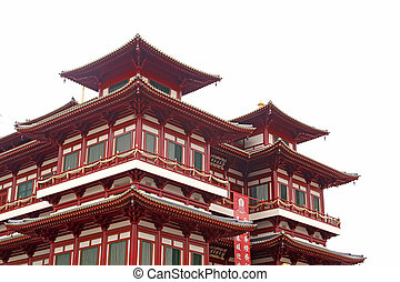 Chinese Temple Building Architecture