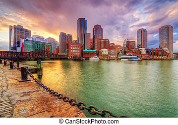 Boston - Skyline of downtown Boston, Massachusetts, USA