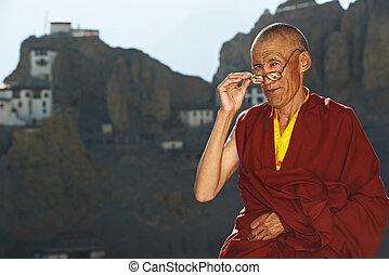 indianin, Tybetańczyk, mnich