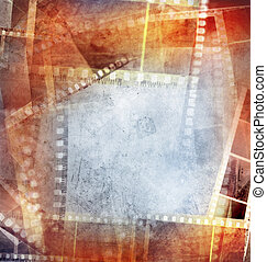 Film negative background - Grungy film negative background,...