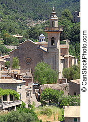 Church of St. Bartholomew in Valldemossa. Majorca island,...
