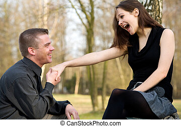 Do you want to get married - Man is asking his girlfriend to...