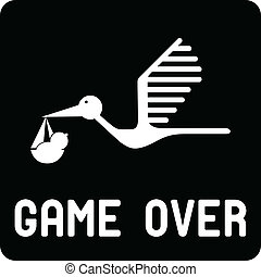 Funny birth symbol - Game Over