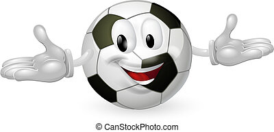 Soccer Ball Man - Illustration of a cute happy soccer...