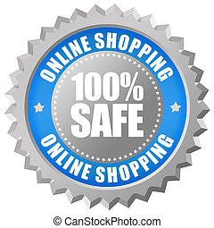 Safe online shopping emblem