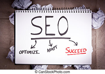 SEO Concept - SEO - search engine optimization - concept for...